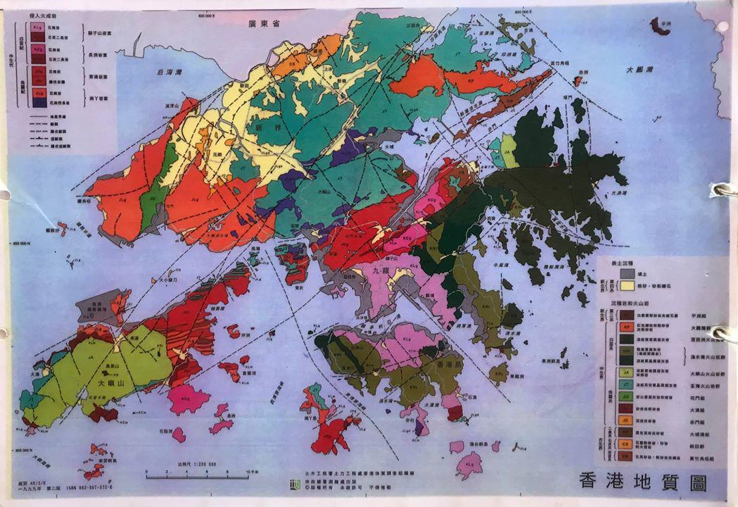 帶領生態旅遊時講解的地質圖