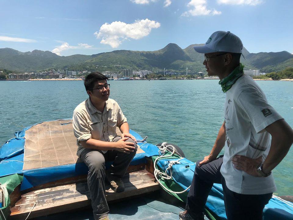 綠恆生態旅遊有限公司總經理-謝宇德 與 共生藻旅行社創辦人-黃啟翔